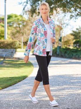Pretty Paisley Jacket & Casual Comfort Capris