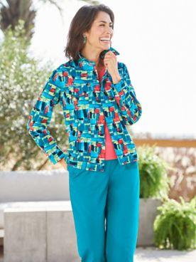 Paint Me Pretty Jacquard Jacket & Classic Comfort® Pants