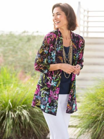 Graceful Lace Cascade Jacket & Look Of Linen Separates