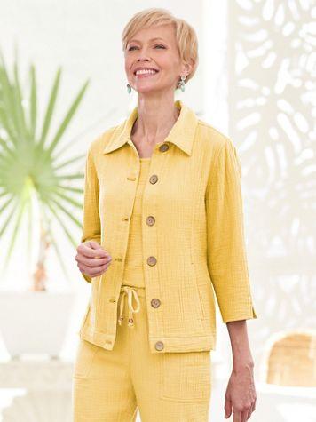 Easy Breezy 3/4 Sleeve Jacket - Image 1 of 4