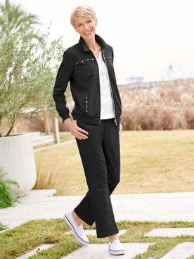 Alfred Dunner French Terry Jacket & Pants