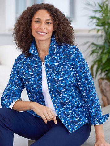 Mosaic Sateen Long Sleeve Jacket - Image 1 of 1