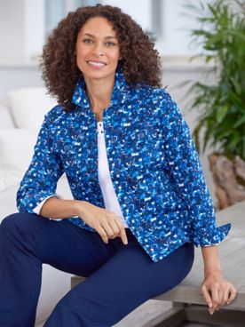 Mosaic Sateen Jacket & Comfort Stretch Pants