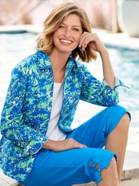 Paradise Island Sateen 3/4 Sleeve Jacket