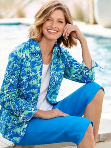 Paradise Island Sateen Jacket & Slimtacular® Capris