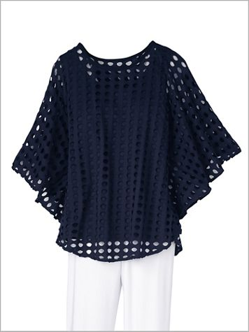 Sky's The Limit Poncho Top - Image 2 of 2