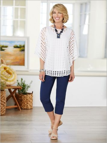 Sky's The Limit Poncho Top & Slimtacular® Ultimate Fit Pants