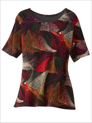 Textured Print Knit Top - Image 2 of 2