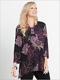 Floral Textured Print Tunic