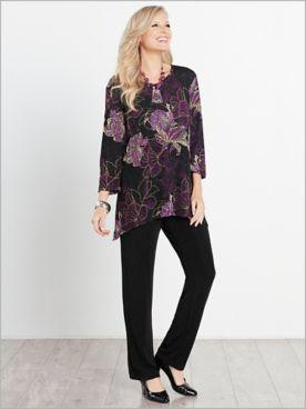 Floral Textured Print Tunic & Signature Knits® Pants