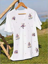 Beach Day Appliqu&#233 Tee
