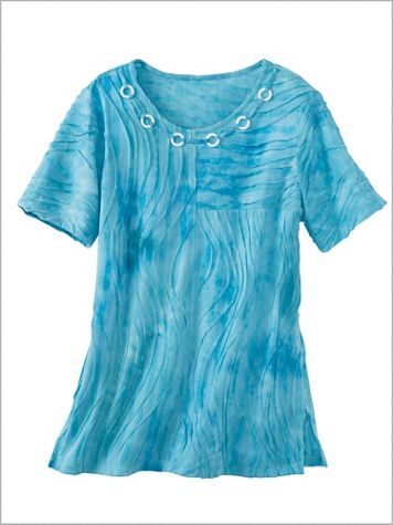 Turks And Caicos Tie Dye Texture Tee by Alfred Dunner - Image 2 of 2