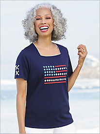 America's Cup Flag Tee by Alfred Dunner