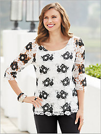 Blanc Noir Lace Top