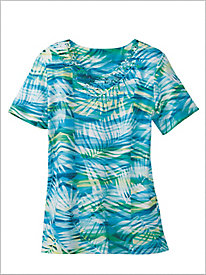 Scottsdale Abstract Leaves Top by Alfred Dunner
