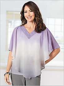 Ombre Overlay Top by Alfred Dunner
