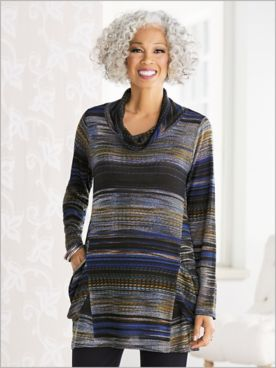 Abstract Stripe Tunic