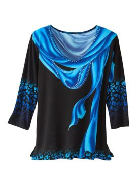 Dashing Drape Print Top