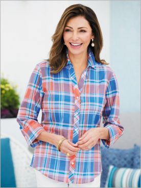 Madras Plaid Shirt by Foxcroft