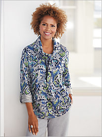 Pacific Paisley Marled Pullover by D&D Lifestyle&#8482