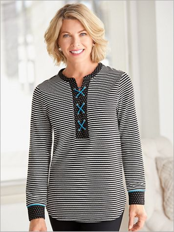 Pattern Play Tunic by D&D Lifestyle™ - Image 2 of 2