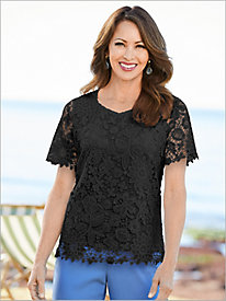 Sweetheart Lace Floral Top