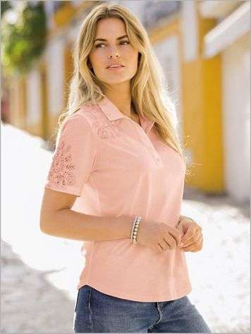 Together Lace Trim Polo - Image 3 of 3