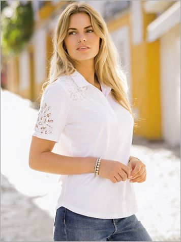 Together Lace Trim Polo