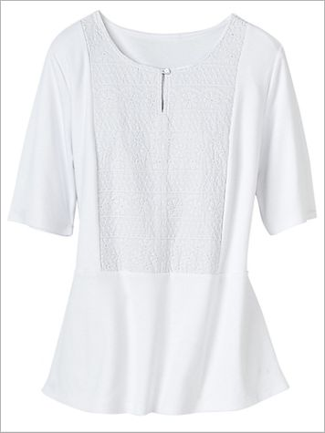 Forget Me Not Embroidered Tee - Image 0 of 1