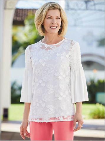 Coral Romance Floral Lace Top - Image 2 of 2
