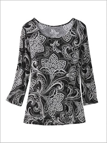Paisley Florals Knit Top - Image 1 of 4