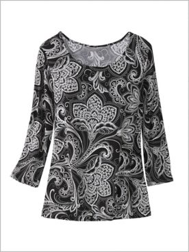 Paisley Florals Knit Top