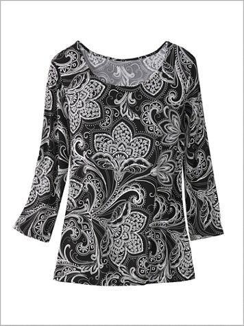 Paisley Florals Knit Top - Image 2 of 3
