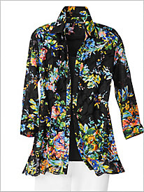Midnight Floral Lace Shirt