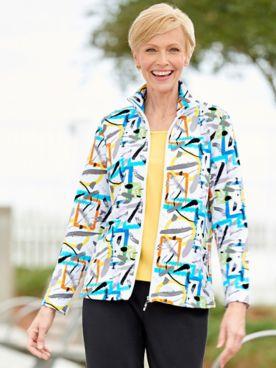 Pop Of Paint Long Sleeve Knit Jacket