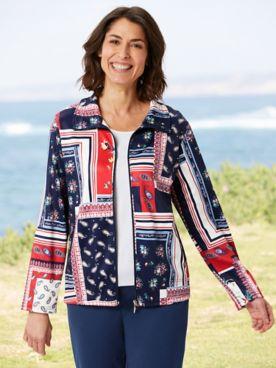 Floral Paisley Patch Jacket