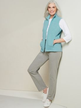 Cable Knit Vest & Everywhere Straight Leg Knit Pants