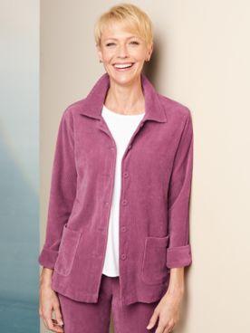 Knit Cord Shirt Long Sleeve Jacket