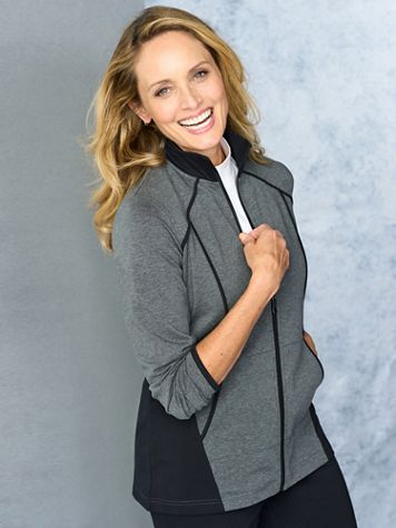 Casual Colorblock Long Sleeve Jacket - Image 2 of 2