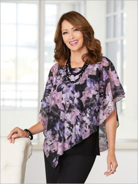 Fantasy Floret Tiered Top by Alex Evenings