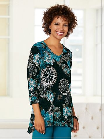 Geo Floral Textured Top - Image 2 of 2