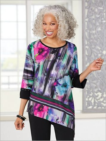 A Perfect Match Floral Print Top by Picadilly - Image 3 of 3
