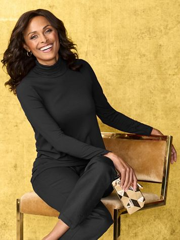 Long Sleeve Turtleneck Top by Picadilly