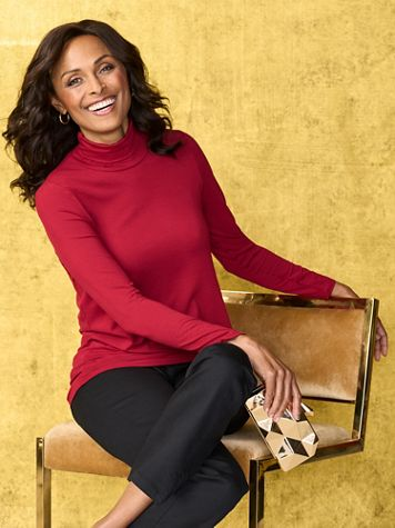 Long Sleeve Turtleneck Top by Picadilly - Image 1 of 4