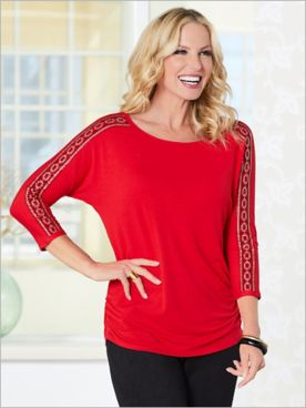 In The Mix Knit Top by Ruby Rd.