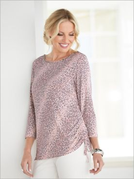 Silver Belles Animal Print Top by Ruby Rd.