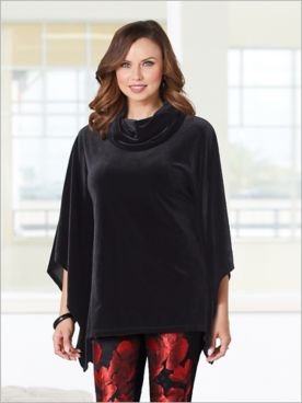 Stylish Stretch Velvet Poncho