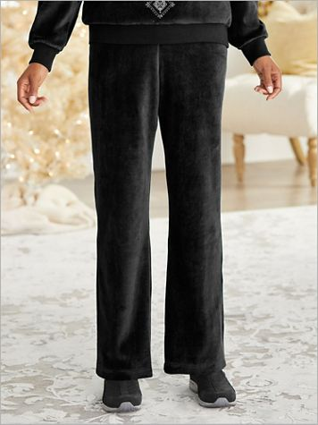 Bright Idea Velour Pants by Alfred Dunner - Image 1 of 4