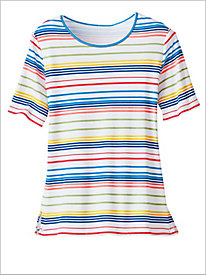 Rainbow Stripe Tee by D&D Lifestyle™