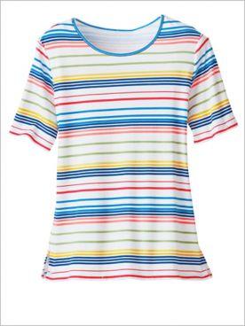 Rainbow Stripe Tee by D&D Lifestyle™